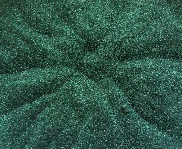 Sweet Poppy Stencil: Satin Glitters Hunter Green