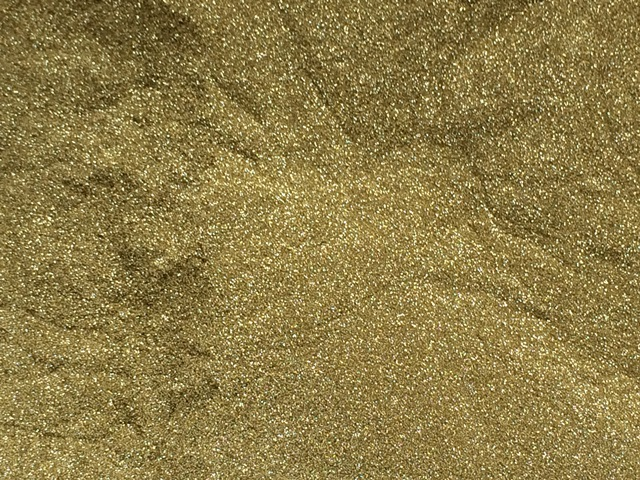 Sweet Poppy Stencil: Satin Glitters Soft Gold