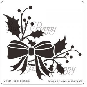 Sweet Poppy Stencil: Holly Sprig