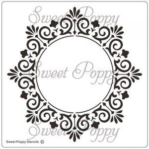 Sweet Poppy Stencil: Frame