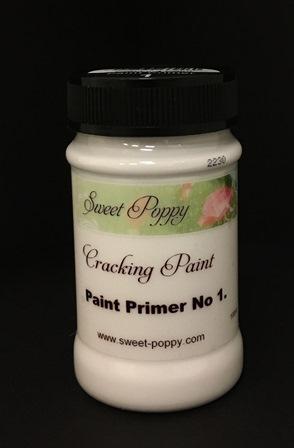Sweet Poppy Cracking Paint: Paint Primer No1 - 100ml