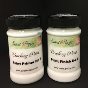 Sweet Poppy Cracking Paint: Paint System 1 & 2 - 100ml