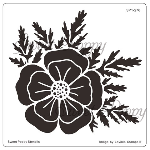 Sweet Poppy Stencil: Large Poppy Head