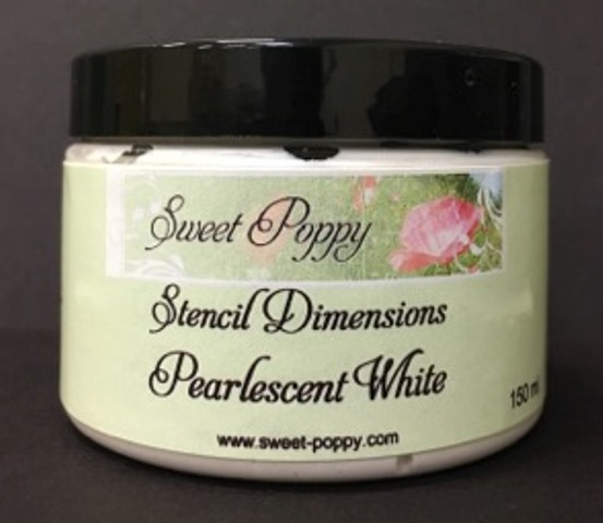 Stencil Dimensions: Pearlescent White
