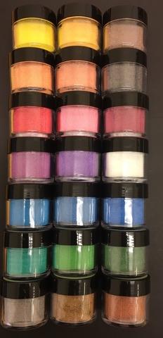 Sweet Poppy Ultra Fine Glass Microbeads: A full set of 21 colour