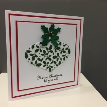 Holly Bauble Christmas card project