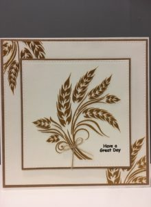 The wheat stencil using glass micro beads