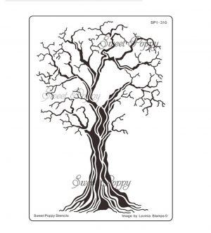 New Beginning (Tree) Sweet Poppy Stencil