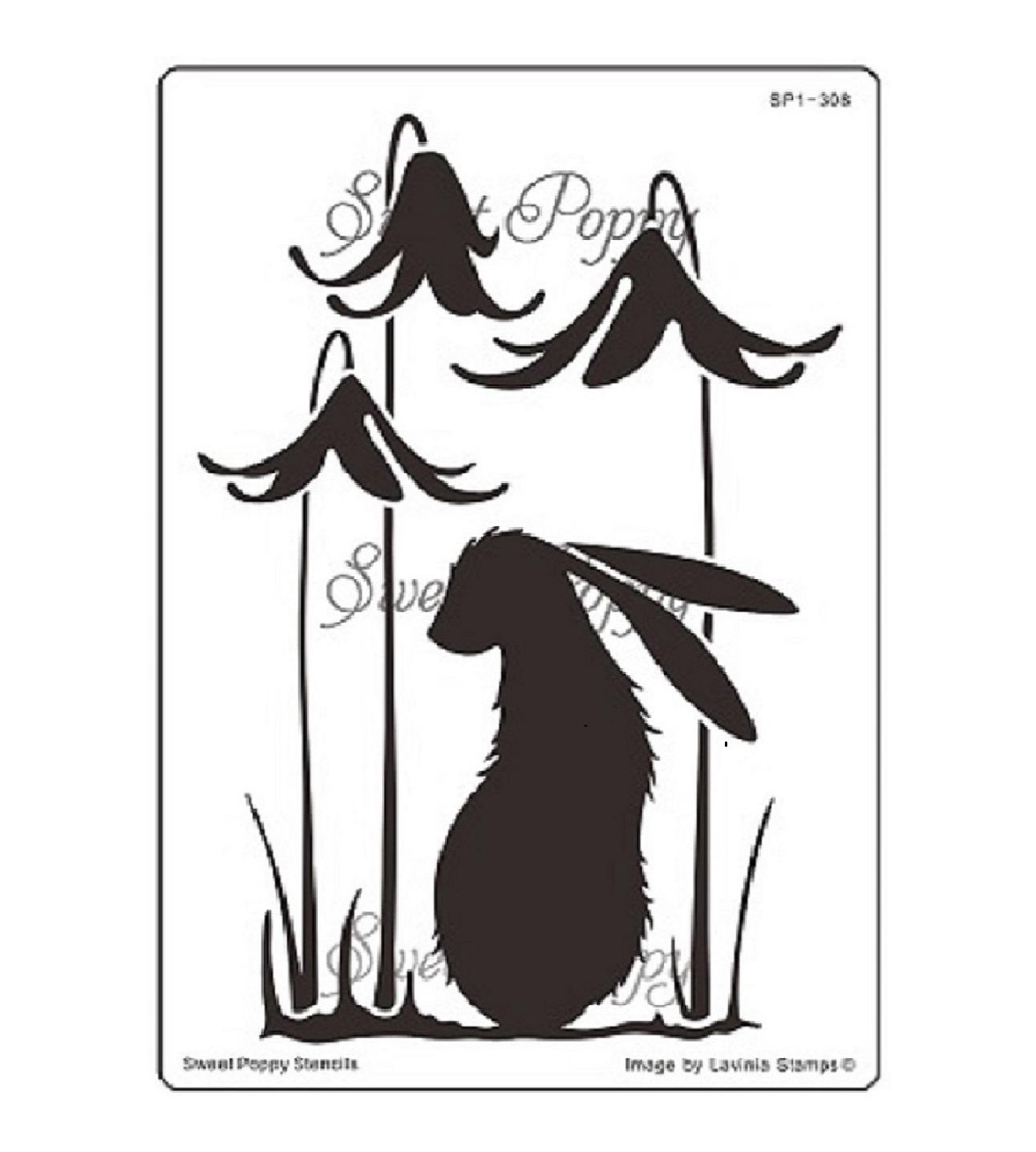 Nocturn (Rabbit) Sweet Poppy Stencil