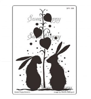 Shower of Love (Rabbits) Sweet Poppy Stencils