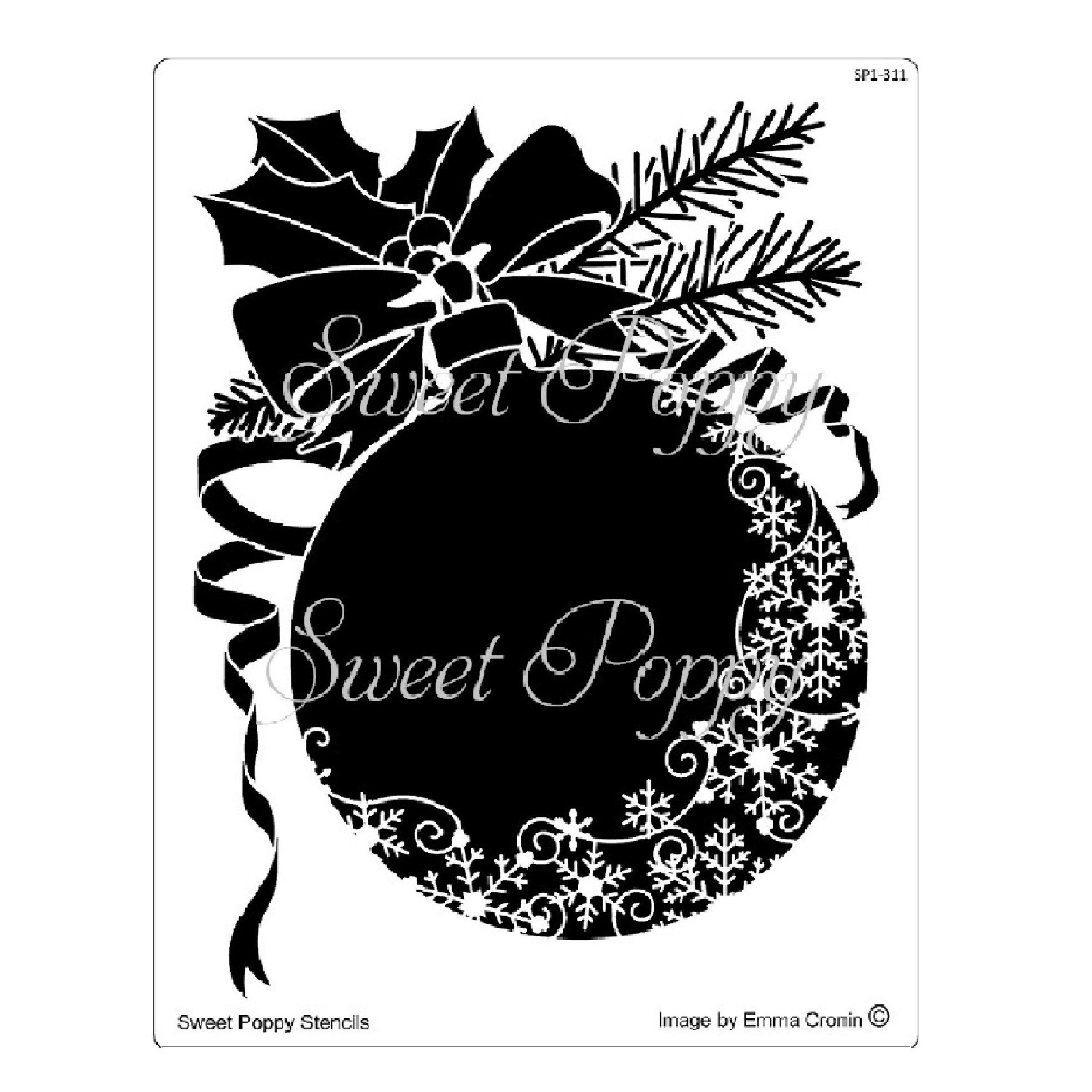 Snowflake-Flourish-Bauble-Stencil